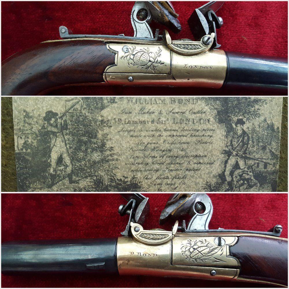 X X X SOLD X X X Cased English flintlock pistols by P Bond